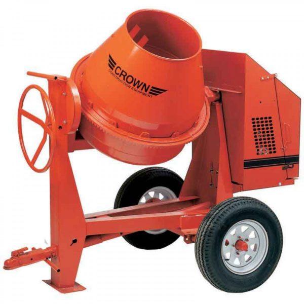 Gas concrete mixer